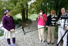 Profile Filming At Park