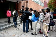 Servitude Behind The Scenes On School Steps
