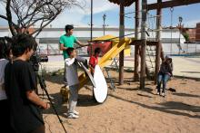 Xochitl Outside Scene With Crew